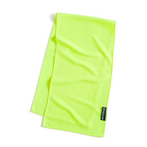 MISSION Premium On-the-Go Reusable Cooling Towel, Hi-Vis Green, One Size (Best Cooling Towel 2019)