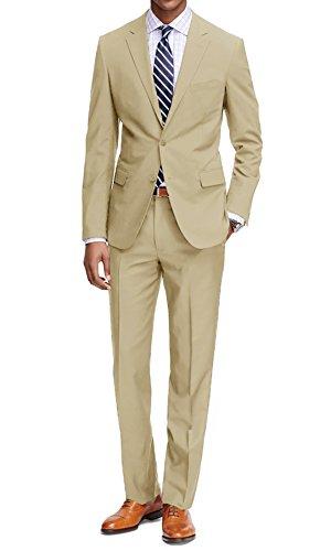 MDRN Uomo Men's Classic Fit 2 Piece Suit, Tan, Size 40R/34W ()