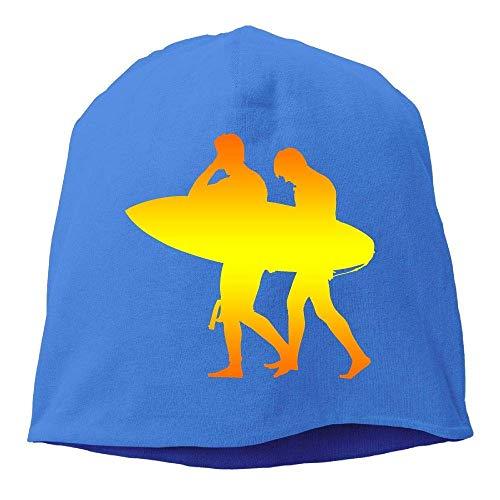 - AUUOCC Headscarf Surfer Clipart Silhouette Hip-Hop Knitted Hat for Mens Womens Fashion Beanie Cap