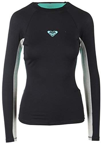 Roxy Junior's XY Long Sleeve Rash Guard, Anthracite Black, 8 (Roxy Guards Rash)