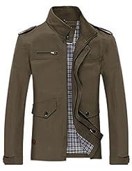 Jinmen Men's Jackets Coats Lightweight Cotton Autumn Outdoors Windbreaker