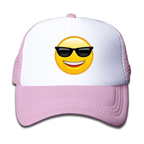 Aiw Wfdnn Smile Emoji Sunglasses Adjustable Mesh Baseball Cap Kid's Trucker Hats Boys ()