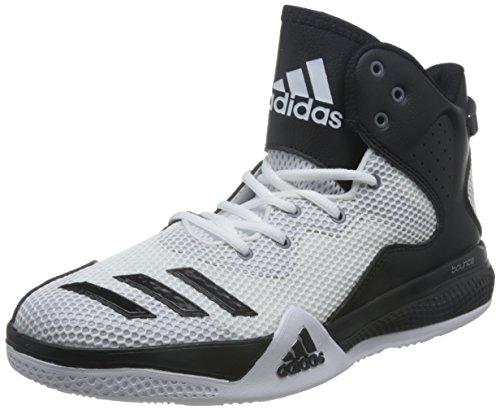 adidas Herren Dt Bball Mid Basket, Multicolore (Ftwwht/Cblack/Clonix), 45 1/3 EU