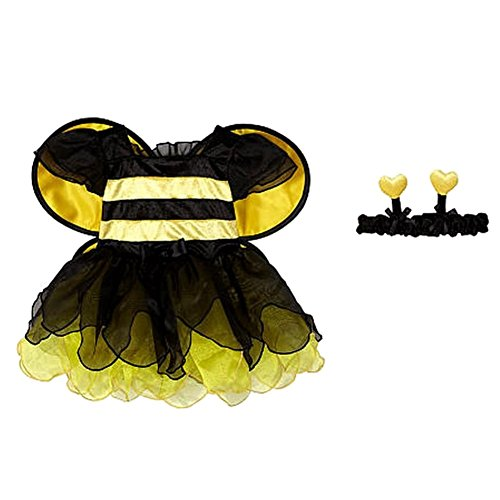 Koala Kids Infant Girls Yellow Bumble Bee Costume with Wings & Headband 6-9m (Infant Bumble Bee Costume)