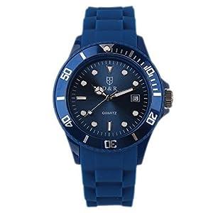 DR8990 Silicone Quartz Watch Unisex Wrist Watches Japan Miyota Movement Waterproof Wristwatch