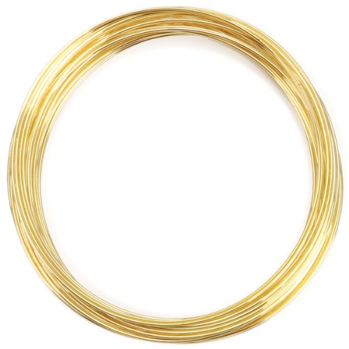 Brand New Gold Plated Memory Wire Bracelet - 30 Loops Brand New