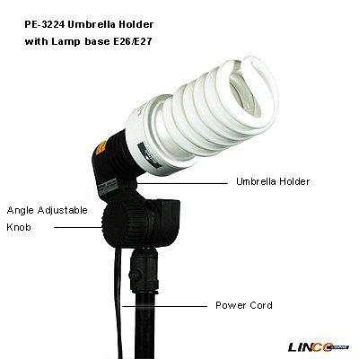 Britek#F100S Professional Photography Studio 400w Starter Kit with 2 Fluorescent Light Holder+2 Fluorescent Lamp+2 Compact L