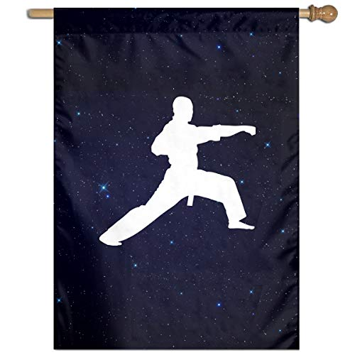 Karate Punch Silhouette-1 Printed Outdoor/Home Demonstration Flag Gift -