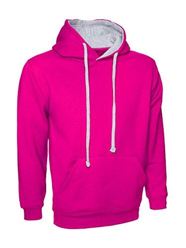 Cappuccio Contrasto nbsp;4xl Pink Da Xs grey Uomo Con Colori Taglia A nbsp;a Hot Felpa fAYwZ5qn