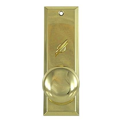 Mortise Lock Escutcheon Plate 2 1/4u0026quot; X 7u0026quot; With Brass Door