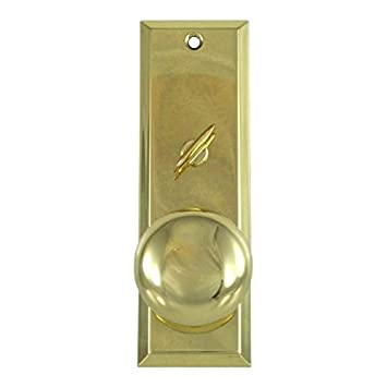 Mortise Lock Escutcheon Plate 2 1/4u0026quot; X 7u0026quot; With Brass Door