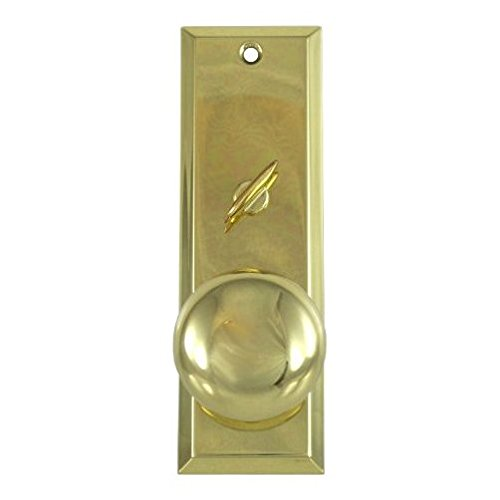 "Mortise Lock Escutcheon Plate 2-1/4"" X 7"" With Brass Door Knob & Turner #3002"