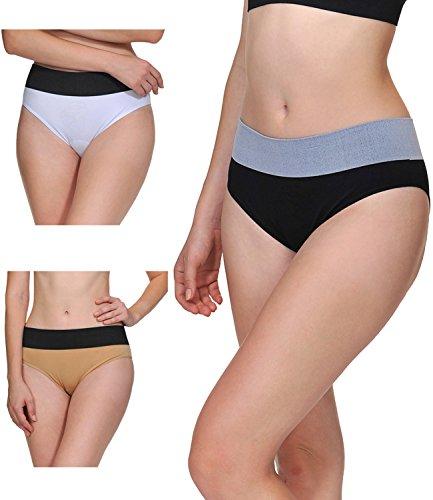 LastFor1 Women Underwear Panties Briefs Pack Plus Size 3 Pack M