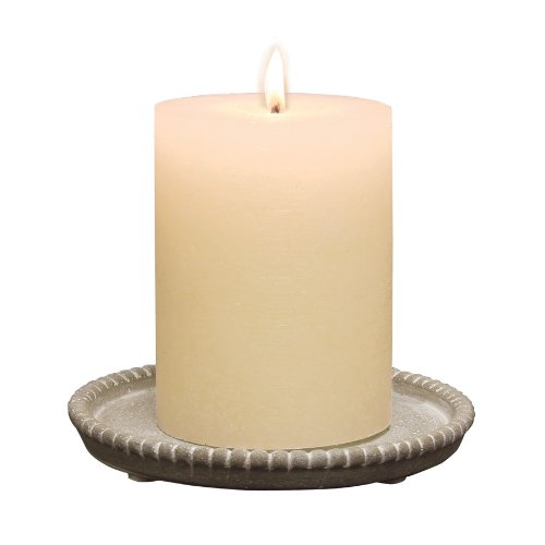 Candle Plate - Briarwood Round Cement Candle Plate