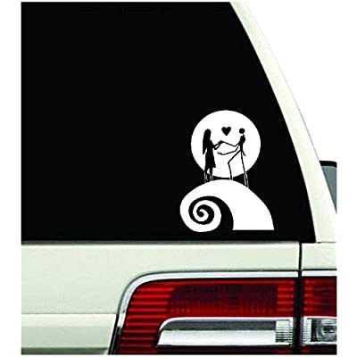 """Jack Skellington Moon Nightmare Before Christmas Decal Sticker Window Hallowee (5.5""""inches): Toys & Games"""
