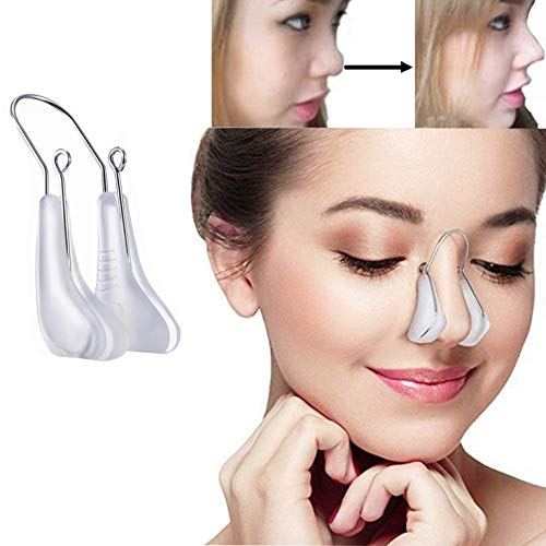 Lenlorry Nose Shaper Lifter Clip Nose Beauty Up Lifting Soft Safety Silicone Rhinoplasty Nose Bridge Straightener Corrector Slimming Device for Wide Crooked Nose Women Men Girls Ladies (White)