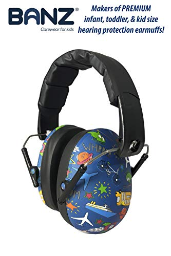 BANZ Kids Headphones - Hearing Protection Earmuffs for Children - Adjustable Headband to fit All Ages - Protect Kids Ears - Block Noise - Fireworks - Sporting Events - Concerts - Movies (Transport)