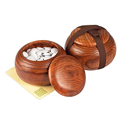 Single Convex Melamine Go Stones, 21.5 to 22 Millimeter (Size 3), Includes Jujube Bowls