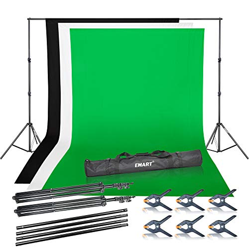 Emart Photo Video Studio Background Backdrop Stand Kit,9.2x10ft