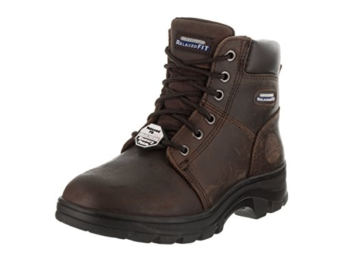 Skechers Work Fit Relajado Workshire Fitton para mujer Botas Punta Suave Café Oscuro