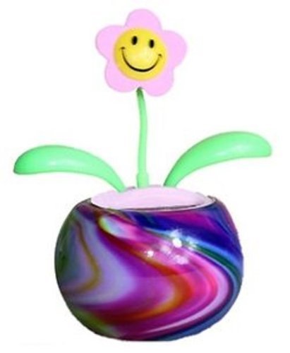 Solar Energy Mounting - Groovers Tie-Dye Solar Dancing Flower with Adhesive Base