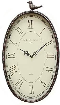 Stratton Home Decor SHD0009 Antique Oval Clock