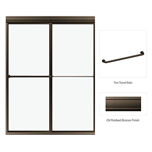 "Deluxe Framed Bypass Sliding Enclosure Clear Glass 45""-47..."