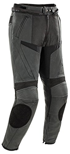 Joe Rocket Stealth Sport Men's Leather Perforated Motorcycle Pants (Black, Size 36)