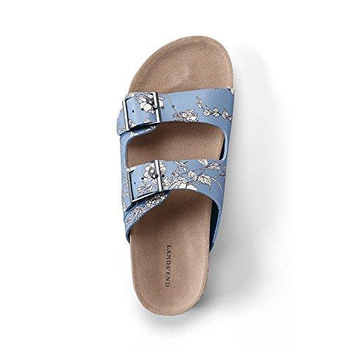 adc019fe95af cheap Lands  End Women s Leather Slide Sandals