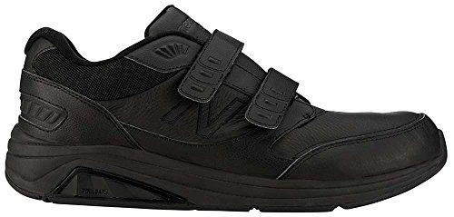 New Balance Men's MW928V2 Hook&Loop Walking Shoe-M, Black, 8.5 D US
