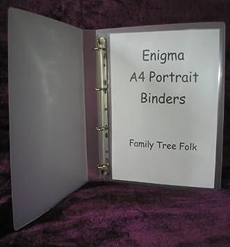 Enigma A4 portrait binder 2 ring