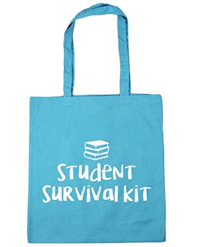 survival Bag kit 10 Shopping Beach Blue 42cm Tote HippoWarehouse Surf x38cm Gym Student litres axwA0xp5