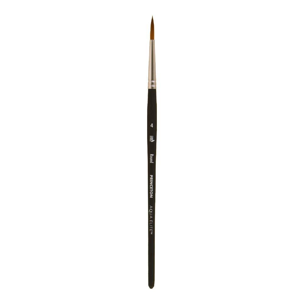 Princeton Aqua Elite NextGen Artist Travel Brush, Series 4850 Synthetic Kolinsky Sable for Watercolor, Round, Size 4