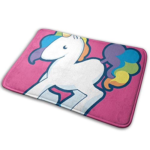 Dallas Door Mat Rug Cowboys (Doormat Rainbow Unicorn Pink Stylish Durable Non Slip Rug Door Mat for Floor 19.7 x 31.5 Inch)