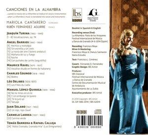 Canciones En La Alhambra: Varios, Turina;Barrios;Ravel;Gounod ...