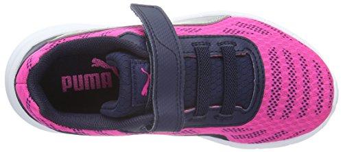 Puma Meteor V Ps - Zapatillas Unisex Niños Rosa - Pink (Pink Glo-puma Silver 03)