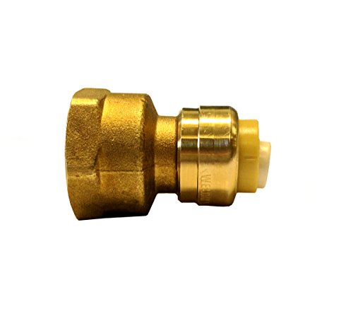 Libra Supply Lead Free 3/4 inch Push x 1 inch FIP Push-Fit Female Adapter, Push to Connect, Push x FIP(Pack of 3 pcs, Click in for more size options), 3/4'' Push x 1'' FIP, Fits CTS, CPVC and PEX ()