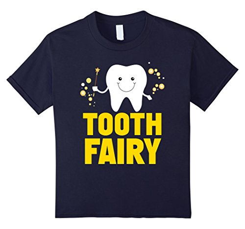 Children's Tooth Fairy Costume (Kids Kids Tooth Fairy Godmother Fairy Tales Novelty T-Shirt 6 Navy)