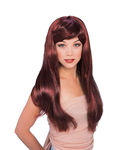 Rubie's Red with Black Glamour Wig, Red/Black, One ()
