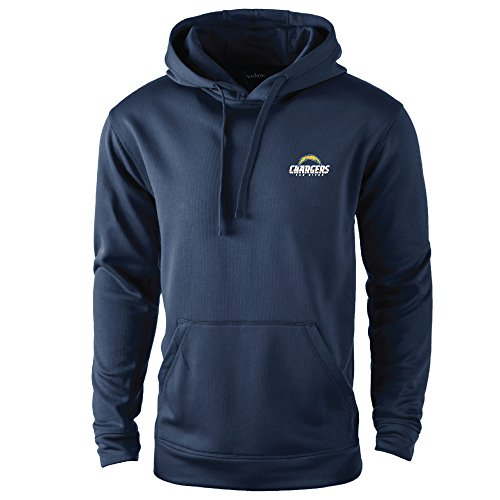 NFL San Diego Chargers adult Champion Polyester Tech Fleece Pullover, Large, Navy