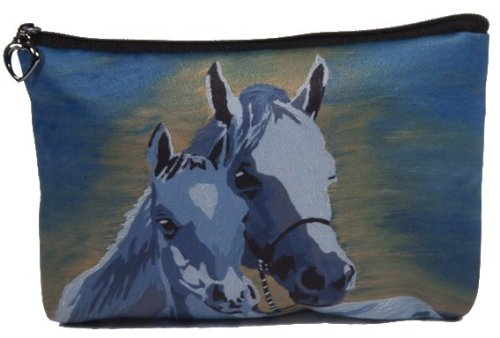 Equestrian Day Bag (Horse Cosmetic Bag, Zip-top Closer - Taken From My Original Paintings (Horse - A Mother's Love))
