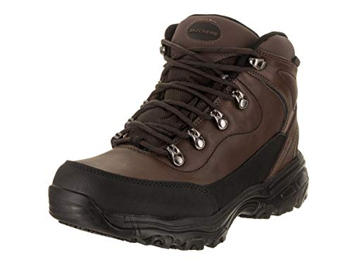 Skechers Work D'Lites SR Chitina WP Womens Slip Resistant Boots Dark Brown 8