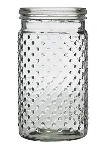 Floral Home Glass Hobnail Jar in Clear - 7.5