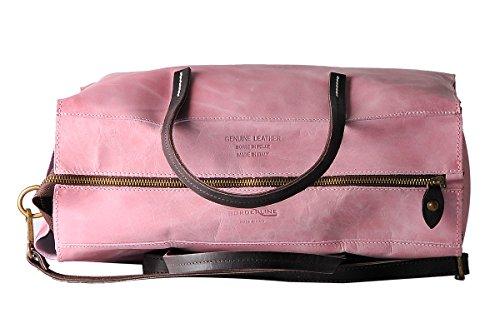 BORDERLINE Borsa in GRACE Rosa Vera Made Pelle Donna Italy in Semirigida da 100 q0Hr4wvBn0