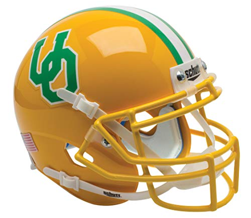 Schutt NCAA Oregon Ducks Mini Authentic XP Football Helmet, Gold Throwback Alt. 13 ()