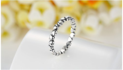 Amazon.com: Anillos Sortijas de Mujer Joyería Fina Compromiso/Matrimonio Heart Studded Finger Ring for Women RI0025: Jewelry