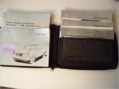 1998 Mercedes E300 Turbodiesel E320, E340 Owners Manual: Mercedes: Amazon.com: Books