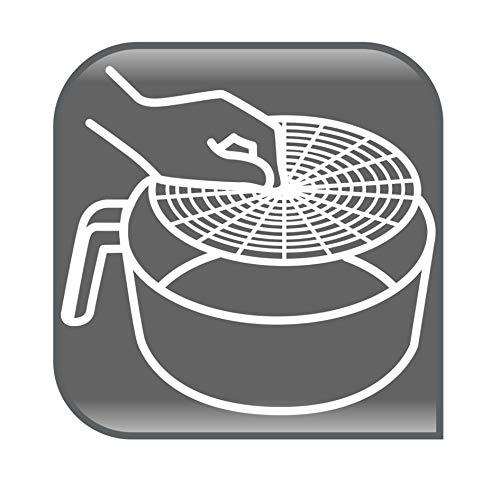 المقلاة الهوائية بدون زيت من تيفال، سعة 4.2 لتر، موديل EY201827، اللون اسود