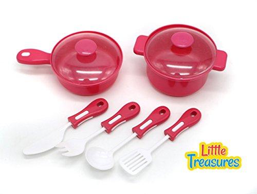 Essentials Pot - Little Treasures Kitchen mini Cooking Pots & Utensils Happy Chef Pretend Play Pot & Pan Essential Toy Set