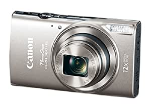 Canon PowerShot ELPH 360 Digital Camera w/12x Optical Zoom and Image Stabilization - Wi-Fi & NFC Enabled (Silver)